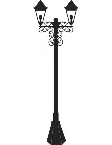 Naklejka ścienna latarnia uliczna