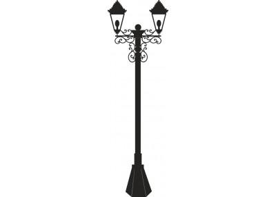 Naklejka ścienna latarnia uliczna 1454