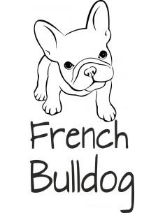 Naklejka z napisem French buldog