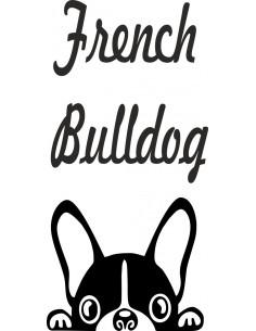 Naklejka na ścianę French buldog