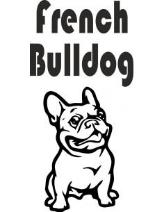 Nalepka z napisem French buldog
