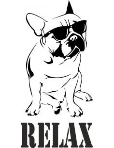 Naklejka z psem Relax
