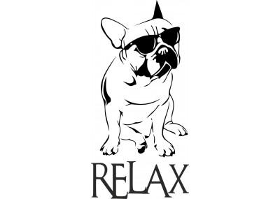 Naklejka ścienna Buldog Relax 2013