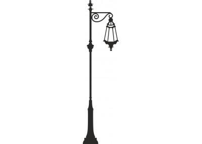 Ścienna naklejka latarnia uliczna 1456