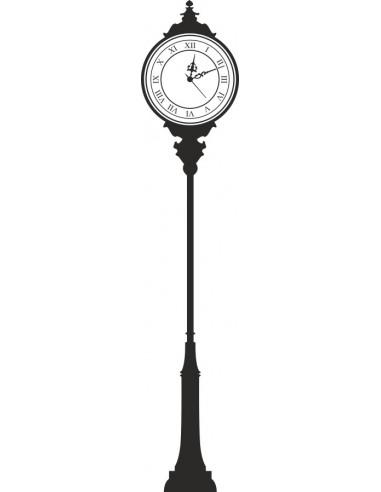 Naklejka na ścianę zegar latarnia uliczna 1457