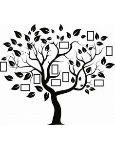 Naklejka na ścianę drzewo z ramkami