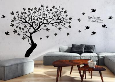 Drzewo na ścianę z cytatem 1524