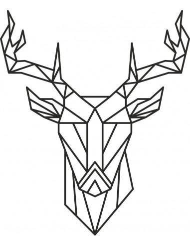 Naklejka jeleń geomteryczny