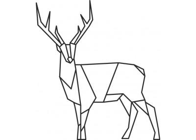 Jeleń geometryczny naklejka na ścianę