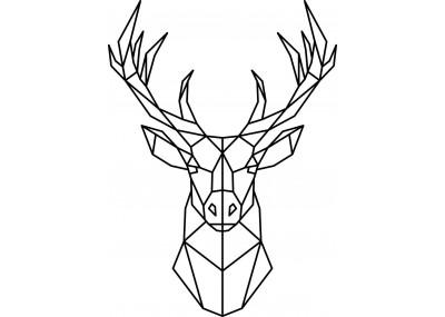 Naklejka ścienna jeleń geometryczny