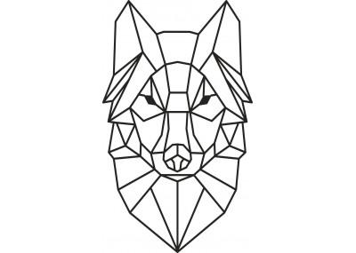 Naklejka wilk geometryczny