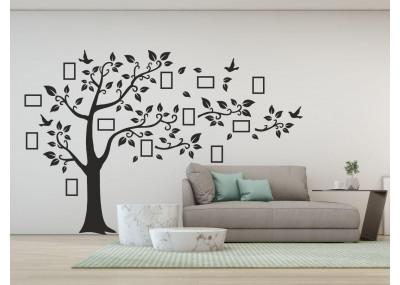 Naklejka drzewo z ramkami na zdjęcia - naklejka na ścianę