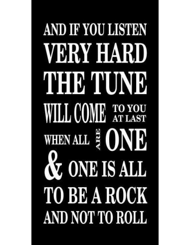 and if you listen very hard the tune  94