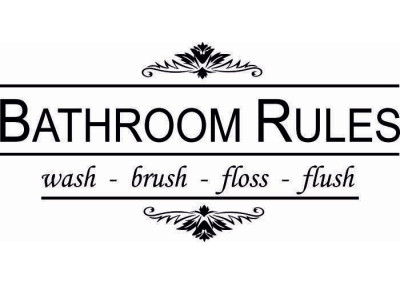 Bathroom rules 116