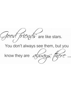 Good friends  are like stars. You don't always see them, but you know they are always there 147