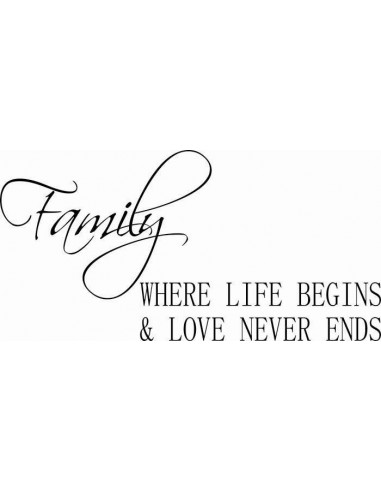 Family where life begins nad love never ends 154