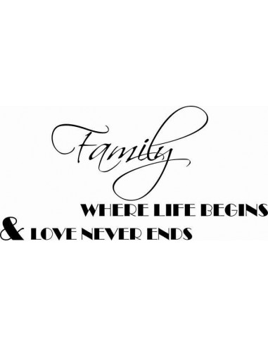 Family where life begins nad love never ends 157