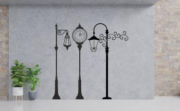 Kategoria naklejki stare latarnie i zegary uliczne